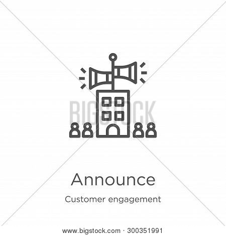 Announce Icon Isolated On White Background From Customer Engagement Collection. Announce Icon Trendy