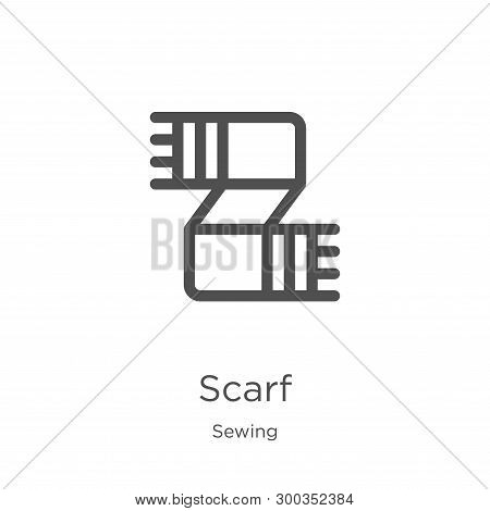 Scarf Icon Isolated On White Background From Sewing Collection. Scarf Icon Trendy And Modern Scarf S