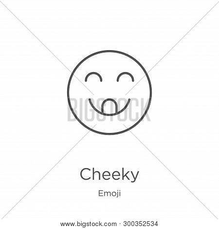 Cheeky Icon Isolated On White Background From Emoji Collection. Cheeky Icon Trendy And Modern Cheeky