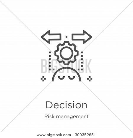 Decision Icon Isolated On White Background From Risk Management Collection. Decision Icon Trendy And