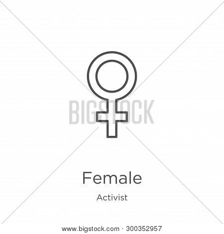 Female Icon Isolated On White Background From Activist Collection. Female Icon Trendy And Modern Fem