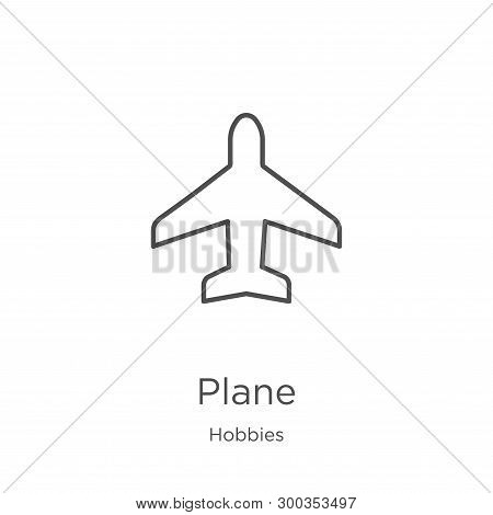 Plane Icon Isolated On White Background From Hobbies Collection. Plane Icon Trendy And Modern Plane