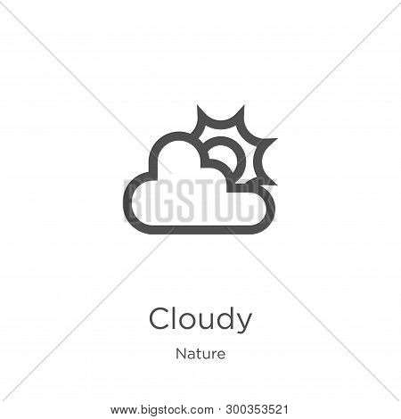 Cloudy Icon Isolated On White Background From Nature Collection. Cloudy Icon Trendy And Modern Cloud