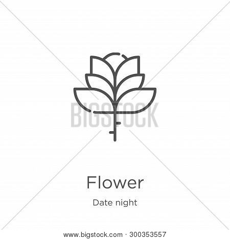 Flower Icon Isolated On White Background From Date Night Collection. Flower Icon Trendy And Modern F
