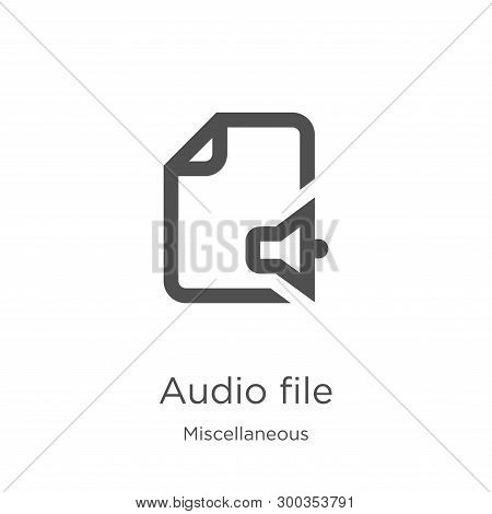 Audio File Icon Isolated On White Background From Miscellaneous Collection. Audio File Icon Trendy A