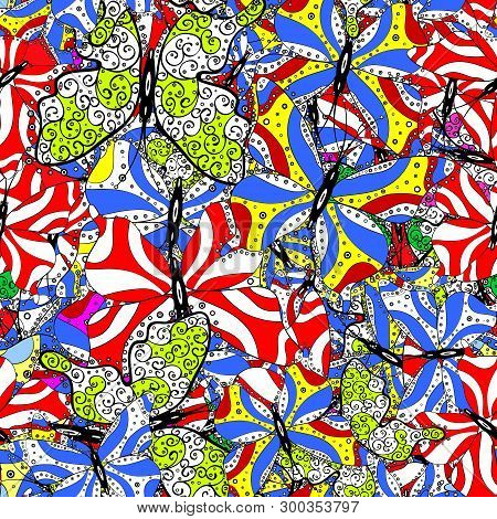 Seamless Pattern Abstract Nice Background. Doodles Pattern For Wrapping Paper. Vector Illustration.