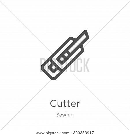 Cutter Icon Isolated On White Background From Sewing Collection. Cutter Icon Trendy And Modern Cutte