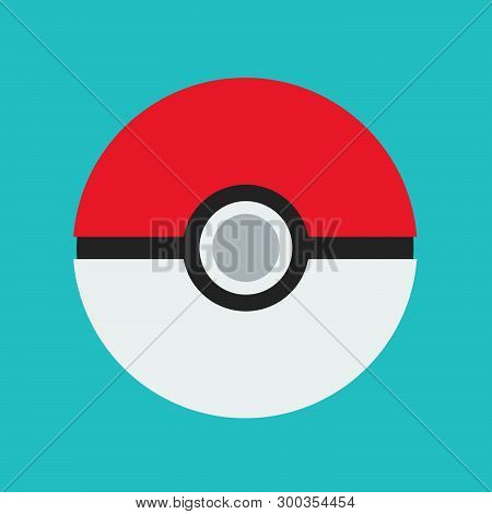 Pokeball Play Pokemon Vector Design Element Reality Icon. Cartoon Isolated Go Quest Online