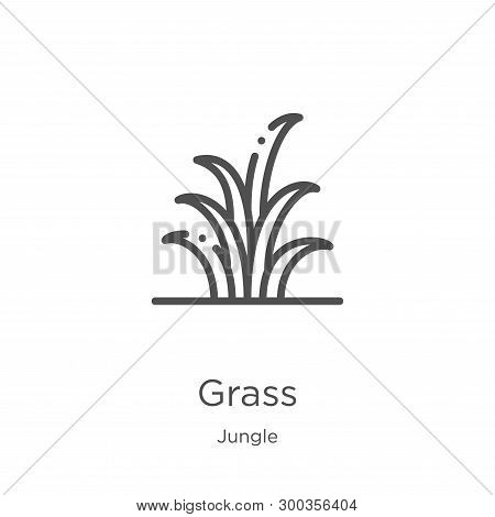 Grass Icon Isolated On White Background From Jungle Collection. Grass Icon Trendy And Modern Grass S