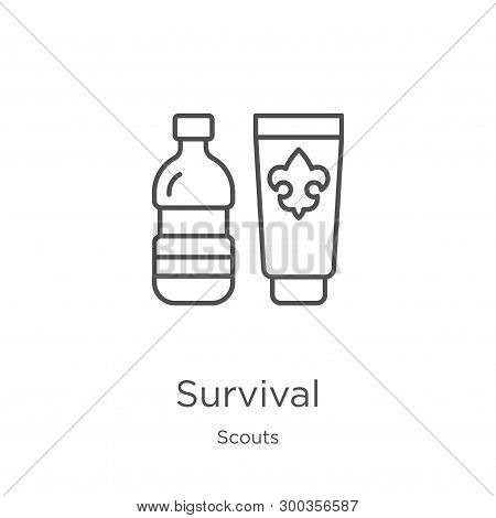 Survival Icon Isolated On White Background From Scouts Collection. Survival Icon Trendy And Modern S