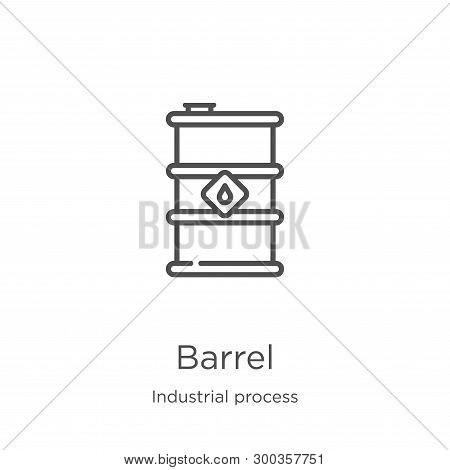 Barrel Icon Isolated On White Background From Industrial Process Collection. Barrel Icon Trendy And
