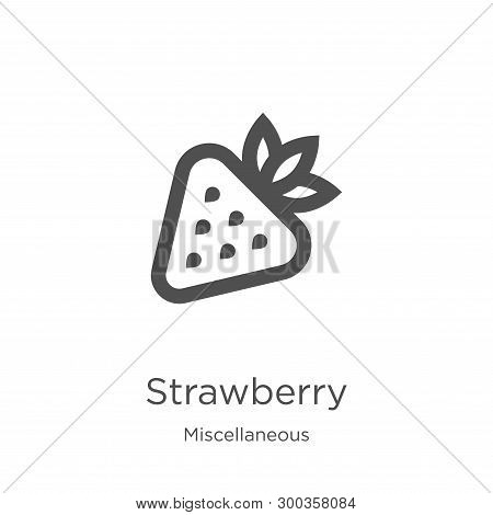 Strawberry Icon Isolated On White Background From Miscellaneous Collection. Strawberry Icon Trendy A