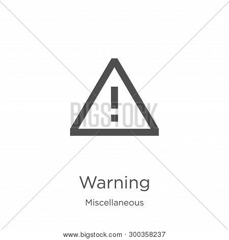 Warning Icon Isolated On White Background From Miscellaneous Collection. Warning Icon Trendy And Mod