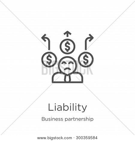 Liability Icon Isolated On White Background From Business Partnership Collection. Liability Icon Tre