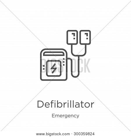Defibrillator Icon Isolated On White Background From Emergency Collection. Defibrillator Icon Trendy