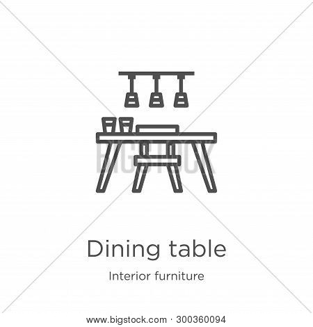 Dining Table Icon Isolated On White Background From Interior Furniture Collection. Dining Table Icon