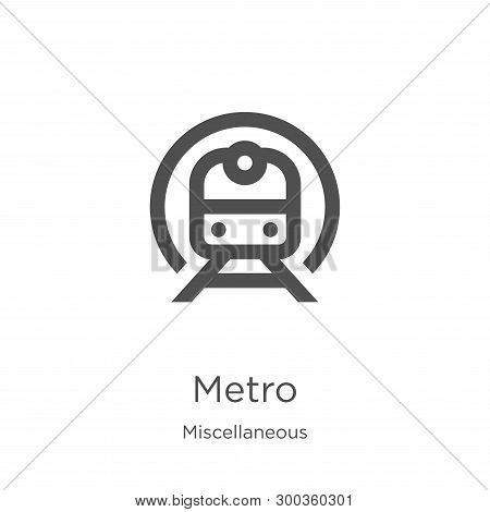 Metro Icon Isolated On White Background From Miscellaneous Collection. Metro Icon Trendy And Modern