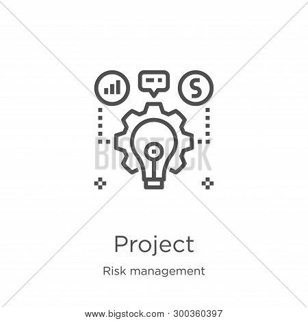 Project Icon Isolated On White Background From Risk Management Collection. Project Icon Trendy And M