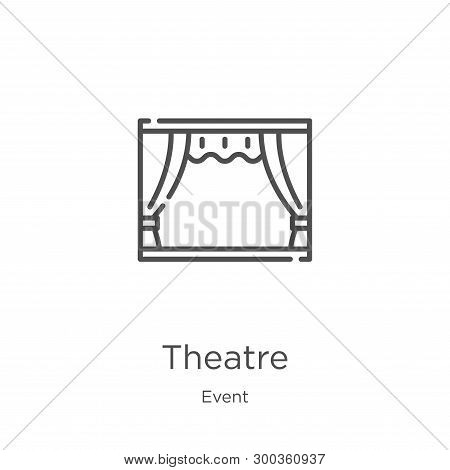 Theatre Icon Isolated On White Background From Event Collection. Theatre Icon Trendy And Modern Thea