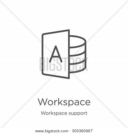 Workspace Icon Isolated On White Background From Workspace Support Collection. Workspace Icon Trendy