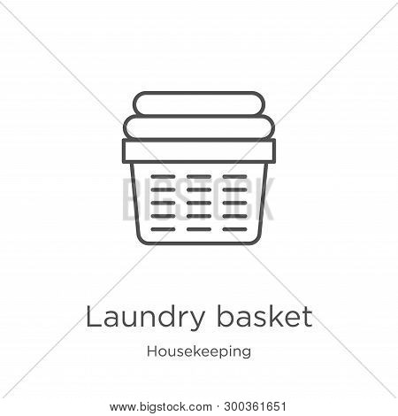 Laundry Basket Icon Isolated On White Background From Housekeeping Collection. Laundry Basket Icon T