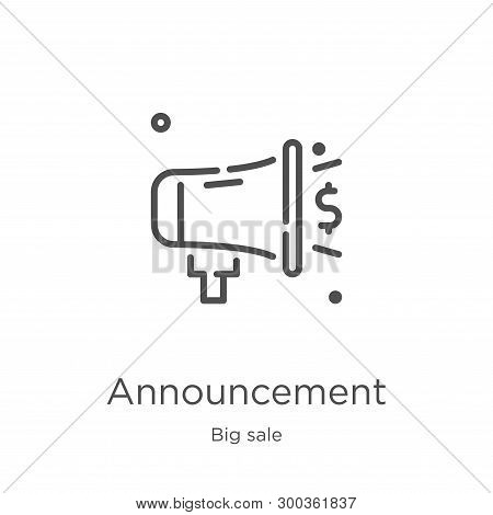 Announcement Icon Isolated On White Background From Big Sale Collection. Announcement Icon Trendy An