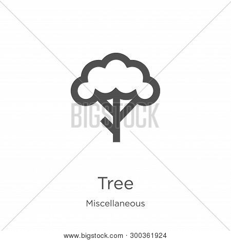 Tree Icon Isolated On White Background From Miscellaneous Collection. Tree Icon Trendy And Modern Tr