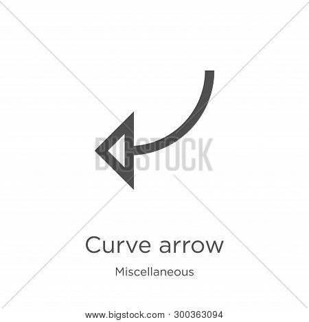Curve Arrow Icon Isolated On White Background From Miscellaneous Collection. Curve Arrow Icon Trendy