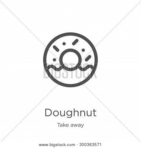 Doughnut Icon Isolated On White Background From Take Away Collection. Doughnut Icon Trendy And Moder