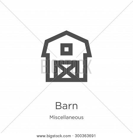 Barn Icon Isolated On White Background From Miscellaneous Collection. Barn Icon Trendy And Modern Ba