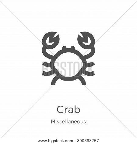 Crab Icon Isolated On White Background From Miscellaneous Collection. Crab Icon Trendy And Modern Cr