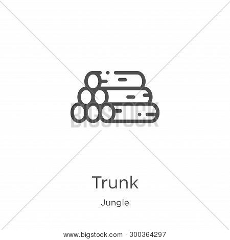 Trunk Icon Isolated On White Background From Jungle Collection. Trunk Icon Trendy And Modern Trunk S