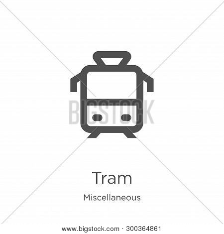 Tram Icon Isolated On White Background From Miscellaneous Collection. Tram Icon Trendy And Modern Tr