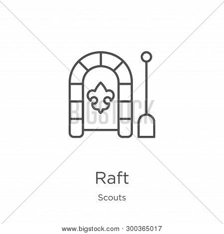 Raft Icon Isolated On White Background From Scouts Collection. Raft Icon Trendy And Modern Raft Symb