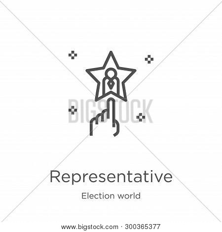 Representative Icon Isolated On White Background From Election World Collection. Representative Icon