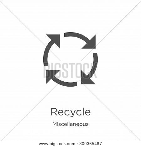 Recycle Icon Isolated On White Background From Miscellaneous Collection. Recycle Icon Trendy And Mod