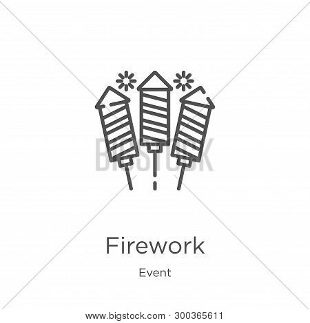 Firework Icon Isolated On White Background From Event Collection. Firework Icon Trendy And Modern Fi