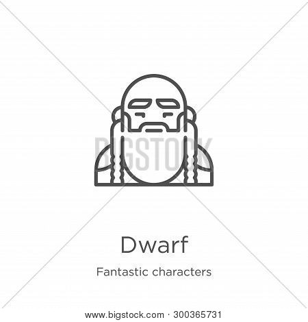 Dwarf Icon Isolated On White Background From Fantastic Characters Collection. Dwarf Icon Trendy And