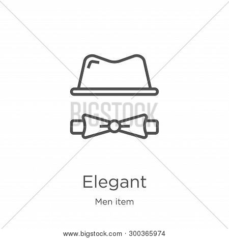 Elegant Icon Isolated On White Background From Men Item Collection. Elegant Icon Trendy And Modern E