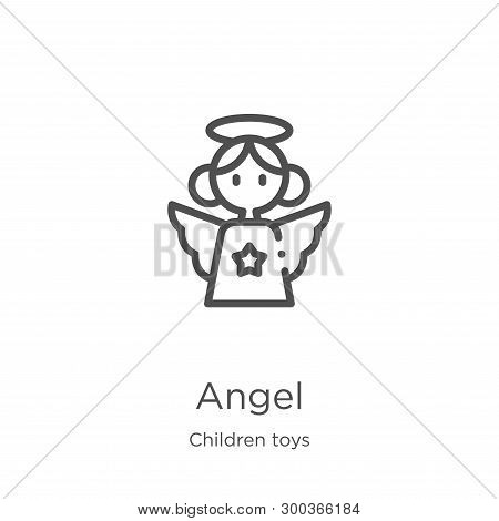 Angel Icon Isolated On White Background From Children Toys Collection. Angel Icon Trendy And Modern