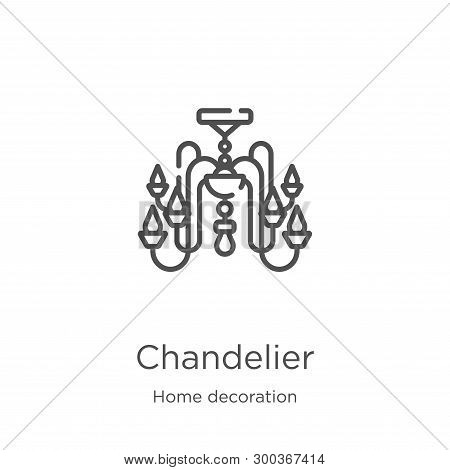Chandelier Icon Isolated On White Background From Home Decoration Collection. Chandelier Icon Trendy