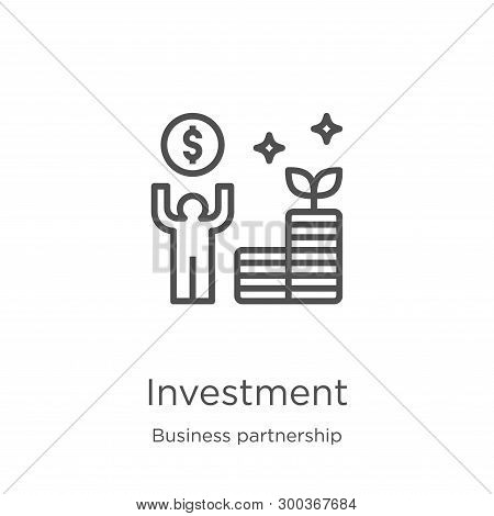 Investment Icon Isolated On White Background From Business Partnership Collection. Investment Icon T