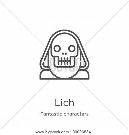 Lich Icon Isolated On White Background From Fantastic Characters Collection. Lich Icon Trendy And Mo