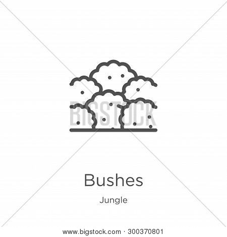 Bushes Icon Isolated On White Background From Jungle Collection. Bushes Icon Trendy And Modern Bushe