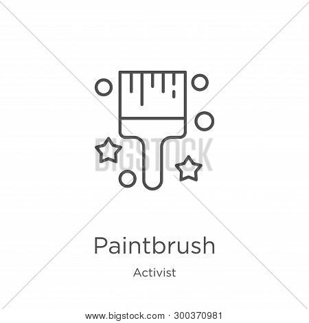 Paintbrush Icon Isolated On White Background From Activist Collection. Paintbrush Icon Trendy And Mo