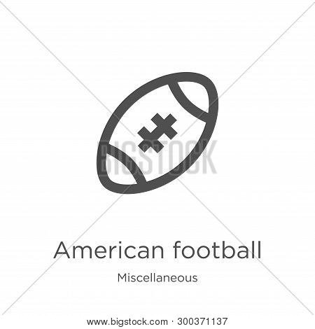 American Football Icon Isolated On White Background From Miscellaneous Collection. American Football