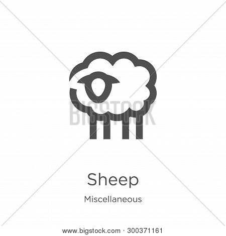 Sheep Icon Isolated On White Background From Miscellaneous Collection. Sheep Icon Trendy And Modern