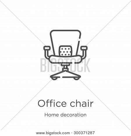 Office Chair Icon Isolated On White Background From Home Decoration Collection. Office Chair Icon Tr