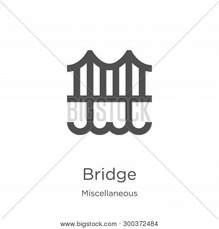 Bridge Icon Isolated On White Background From Miscellaneous Collection. Bridge Icon Trendy And Moder