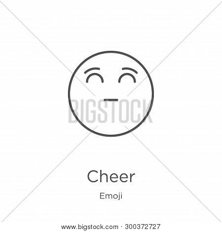 Cheer Icon Isolated On White Background From Emoji Collection. Cheer Icon Trendy And Modern Cheer Sy